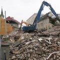 ФОТО И ВИДЕО | В центре Таллинна снесено историческое здание школы