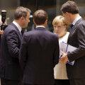 Luksemburgi peaminister Xavier Bettel, Prantsusmaa president Emmanuel Macron, Saksamaa liidukantsler Angela Merkel ja Hollandi peaminister Mark Rutte eile Brüsselis.