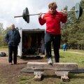 Tallinn, 17.05.2020. Jüri Tamme vasaraheite maailmarekordi 40. aastapäeva tähistav võistlus.