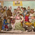 19. sajandi karikatuur peegeldab inimeste kartusi vaktsiini kohutavate kõrvaltoimete ees. Näiteks usuti, et vaktsineeritule kasvavad kärsad, sarved või muud kohutavad kasvajad (foto: James Gillray / CC BY-SA 4.0 / Wikimedia Commons)