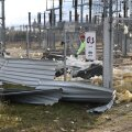 Täna käivad eile tormis räsida saanud Võru alajaamas koristustööd.