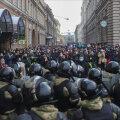 Peterburis vahistati eilsetel meeleavaldustel ka 11-aastane tüdruk