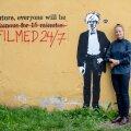 Kristiina Reidolv Tallinnas oma kodukoha lähedal Telliskivi linnakus. Tänavakunst on teisipäeval algaval Tartufil oluline teema.