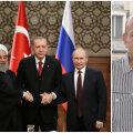 Türgi president Erdogan, Venemaa president Putin, Iraani president Rouhani ning kaitseuuringute keskuse teadur Stociescu