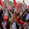 Liibanoni elanikel on majandusraskustest villand. Sellel fotol on meeleavaldajad 28. märtsil Beiruti tänavatel.