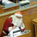 В зале Рийгикогу на последнем заседании года будет только Дед мороз