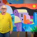 """""""Mind võlub ekspressiivsus, teen kiiresti ja lohakalt, nii nagu tuleb,"""" kirjeldab Vilen Künnapu oma maalimisviisi."""