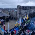 ФОТО и ВИДЕО | В Нарвской крепости торжественно встретили 102-летие Эстонской Республики