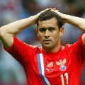 Russia's Kerzhakov reacts during their Group A Euro 2012 soccer match against Greece at the National stadium in Warsaw