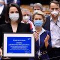 Valgevene opositsiooni esindajatele anti üle Sahharovi mõttevabaduse auhind