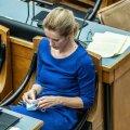Kaja Kallas Martin Helme umbusaldamisel riigikogus. Võitjast on saanud kaotaja.
