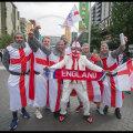 Английские фанаты перед финалом Евро-2020