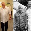 Врачи-ликвидаторы Чернобыля: травматолог Анатолий Осетров и хирург Михаил Ижнин, работающие в Ида-Вируской Центральной больнице. Сейчас и тогда.