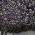 Guatemala blokeeris kaigaste ja pisargaasiga USA-sse suunduva migrandikaravani liikumise