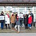 ФОТО: Таллиннские соцдемы провели пикет у мэрии, требуя повышения зарплат воспитателям