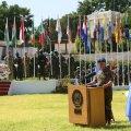 Kindralmajor Stefano Del Sol rahvusvahelise rahu päeva tähistamise rivistusel