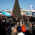 Tänased meeleavaldajad Mongoolia pealinnas.