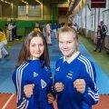 Karatekad Li Lirisman (vasakul) ja Anna Sokk