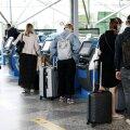 Reisijad Vantaa lennujaamas