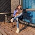 Александра Линд и её кот