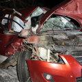 ФОТО   Женщина-водитель врезалась в дерево: чудом обошлось без жертв