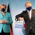 Angela Merkel ja Boris Johnson