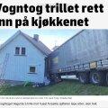 Eesti veoauto lõpetas keset Norra pere kööki