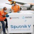 Sputnik V on heaks kiitnud üle poolesaja riigi, aga mitte Euroopa Liit. Pildil võtavad järjekordset vaktsiinisaadetist vastu Venezuela tervishoiuametnikud.