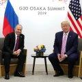 """ФОТО: """"Не вмешивайтесь в выборы!"""" На саммите G20 в Осаке прошла встреча Путина и Трампа"""