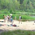 Klooga järve supluskoht sai liivaranna