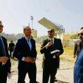 STAADIONI ÜLEVAATUS: Port Saidi staadionil hukkus mõni aasta tagasi 74 inimest, vigastada sai üle 500. Vasakul on Timo Mitt, projekti tehniline juht, tema kõrval Jaanus Rahumägi ning paremal projekti koos Rahumägiga juhtiv Ayman Gabr.
