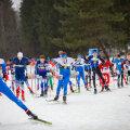 Ühisstart. Esiplaanil noorte Euroopa meistrivõistlustelt neli medalit võitnud Olle Ilmar Jaama.