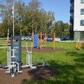 В Кристийне появилась новая спортивная площадка