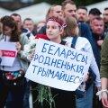 Valgevene toetusprotest Vabaduse väljakul, august