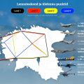 INTERAKTIIVNE KAART   Eesti ja liitlaste lennuvahendid lendavad vabariigi aastapäeval üle üheksa linna