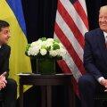 Ukraina riigipea Volodõmõr Zelenskõi ja USA president Donald Trump eile USA-s kohtumas.