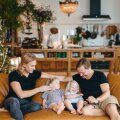Kodus ja koos on hea: Mart, Hilda, Hubert ja Taivo.