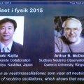 Nobeli füüsikapreemia anti neutriinode massi tõestamise eest