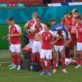 Игроки сборной Дании окружили упавшего Эриксена