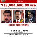 USA esitas Venezuela presidendile süüdistuse narkoterrorismis ja pani tema tabamise eest välja 15 miljonit dollarit