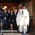 Jaapani parlamendiliikmed pahandasid sõjatempli külastamisega naaberriike