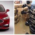 2017. aasta Ford Fusion ja hiljuti leitud kanepilaadungid.