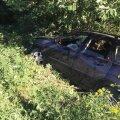 Auto, millega sattus õnnetusse kaheks inimest