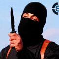 Väidetav terrorist Džihaadi John noaga, millega ta pantvangidel kõrisid lõikas.