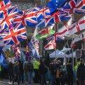 Brexiti pooldajad ja vastesed meeleavaldusel.