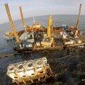 Saaremaa edelanurgas Ariste lahes oleva Volare laevavraki puhastustööd lõppesid
