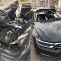 Leedu Maximale kuuluv sõiduauto lasti vaidluse käigus õhku
