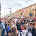 Minski tänavad olid täna taas protestijatest tulvil.