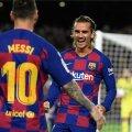 Lionel Messi ja Antoine Griezmann väravat tähistamas.