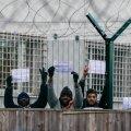 Harkus kinnipeetud asüülitaotlejad 2016. aastal protestimas. Pilt on illustratiivne.